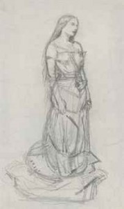 Study of Effie Millais for 'The Eve of St. Agnes'