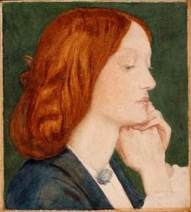 Dante Gabriel Rossetti portrait of Elizabeth Siddal, 1854