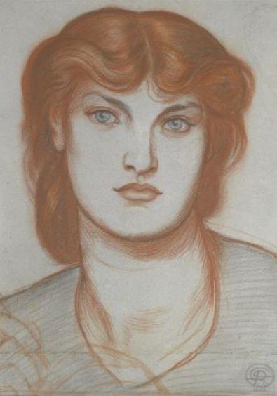Alexa Wilding in a study for Regina Cordium, Dante Gabriel Rossetti