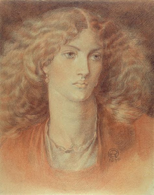 'Head of a Woman Called Ruth Herbert', Dante Gabriel Rossetti