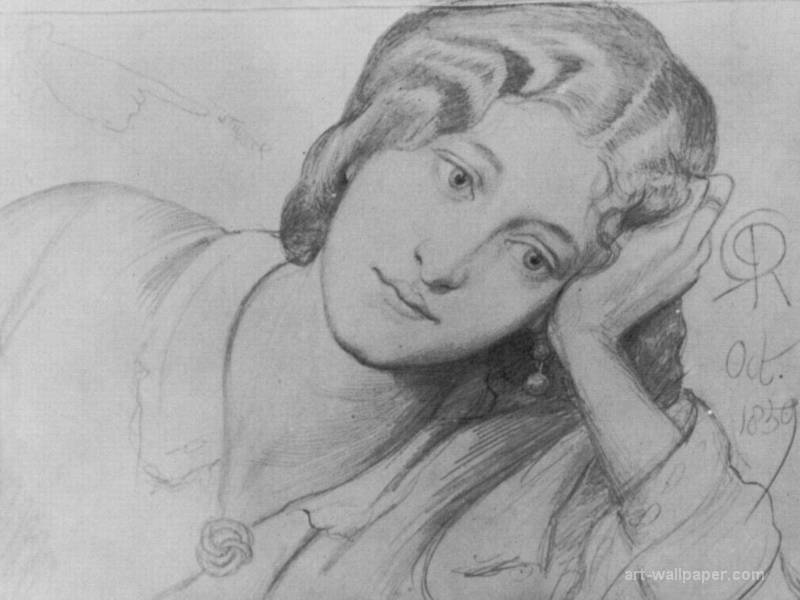 Portrait of Ruth herbert by Dante Gabriel Rossetti