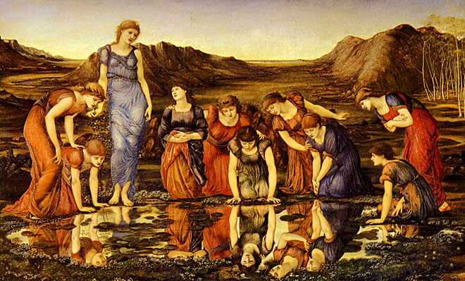 'The Mirror of Venus', Sir Edward Burne-Jones