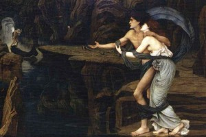 'Orpheus and Eurydice on the banks of the Styx', John Roddam Spencer Stanhope