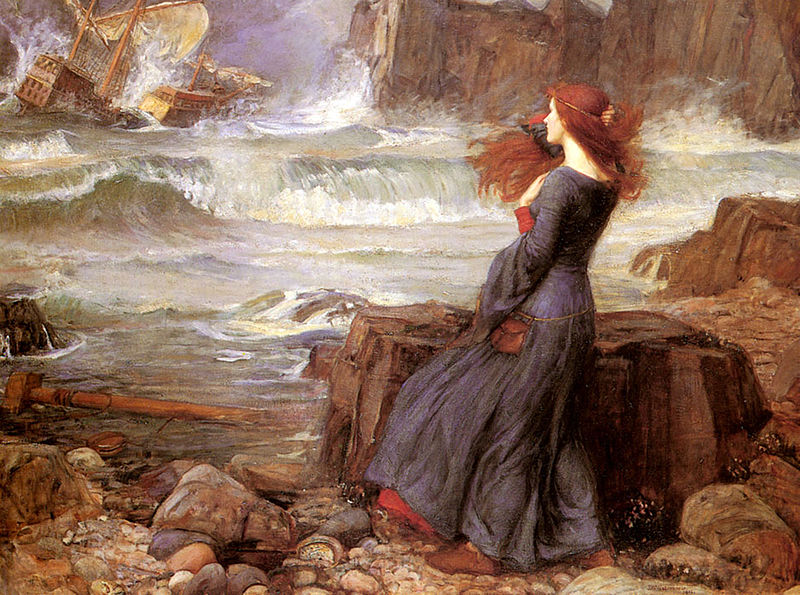 Miranda (The Tempest), John William Waterhouse
