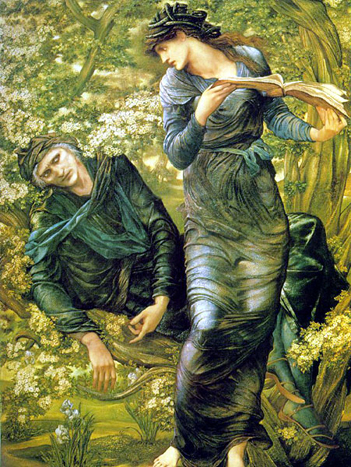 'The Beguiling of Merlin', Sir Edward Burne-Jones