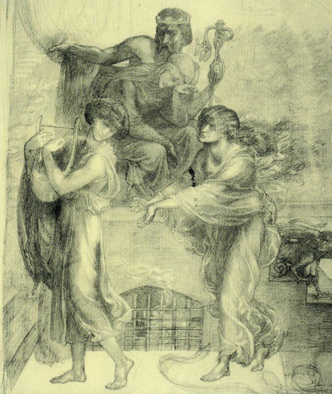 'Orpheus and Eurydice', Dante Gabriel Rossetti