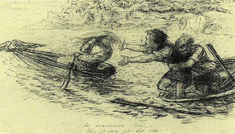 'Boatmen and Siren', Dante Gabriel Rossetti