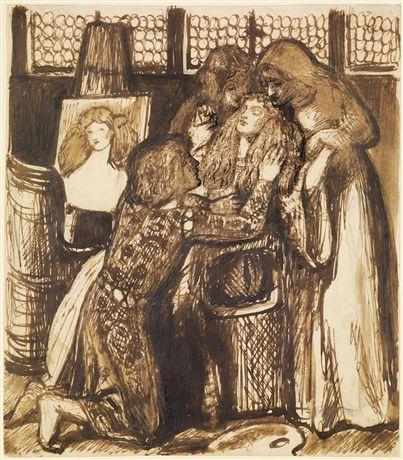 Dante Gabriel Rossetti, 'Study for Bonifazio's Mistress'