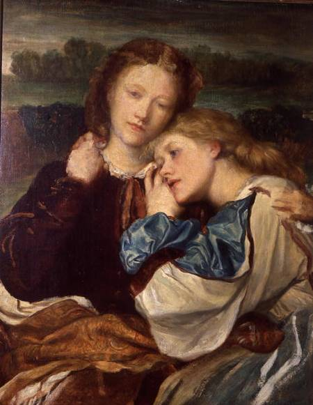 'The Sisters' by G.F.Watts.  On the left is Kate Terry, grandmother to Sir John Gielgud.  Ellen Terry is on the right.