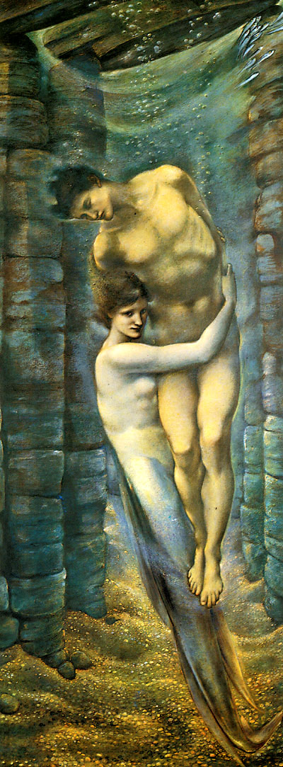 'The Depths of the Sea', Sir Edward Burne-Jones