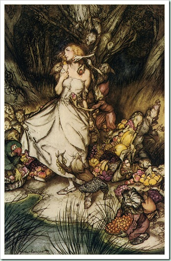 Goblin Market illustration by Arthur Rackham