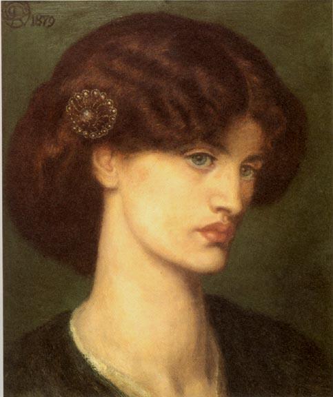 'Beatrice', Dante Gabriel Rossetti. Model: Jane Morris