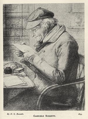 Gabriele Rossetti, drawn by his son Dante Gabriel Rossetti.