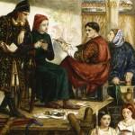 'Giotto painting the portrait of Dante', Dante Gabriel Rossetti