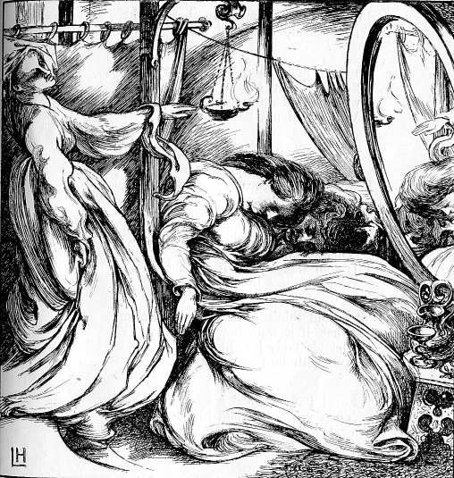 Goblin Market illustration by Lawrence Housman