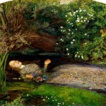 Elizabeth Siddal as Ophelia, painted by John Everett Millais. See Ophelia's Flowers