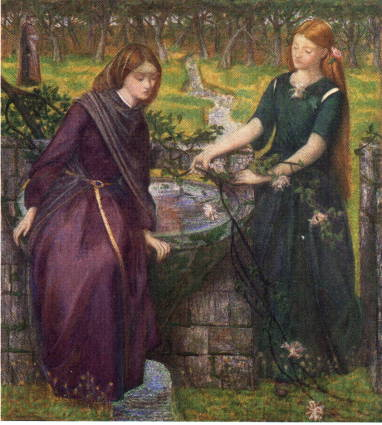 'Dante's Viosion of Rachel and Leah', Dante Gabriel Rossetti