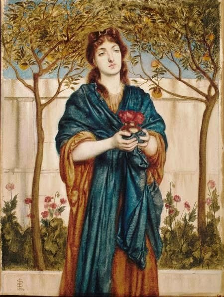 Priestess Offering Poppies, Simeon Solomon