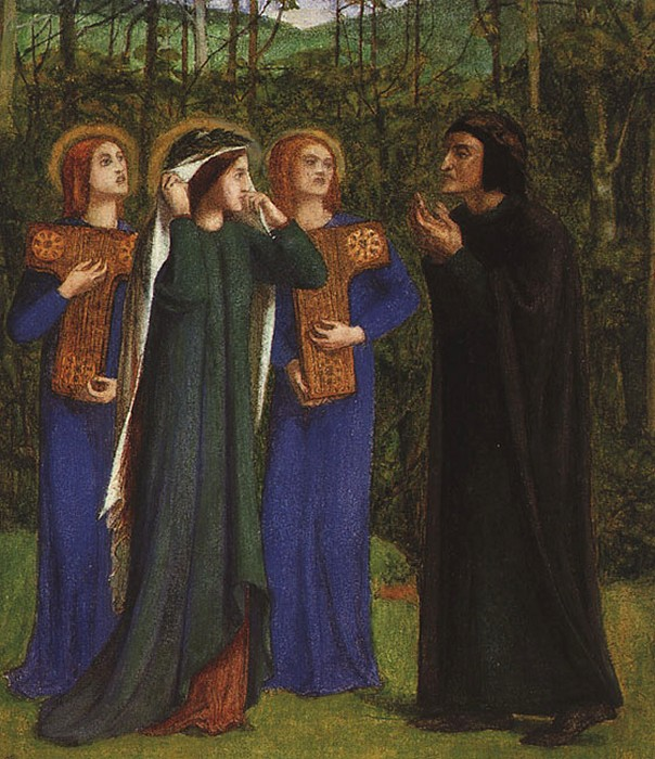 'The Meeting of Dante and Beatrice in Paradise', Dante Gabriel Rossetti. Model, Elizabeth Siddal
