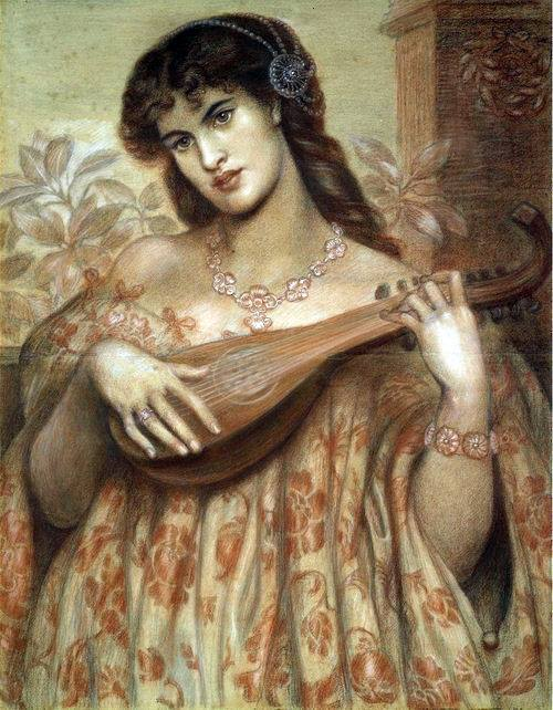 La Mandolinata, Dante Gabriel Rossetti