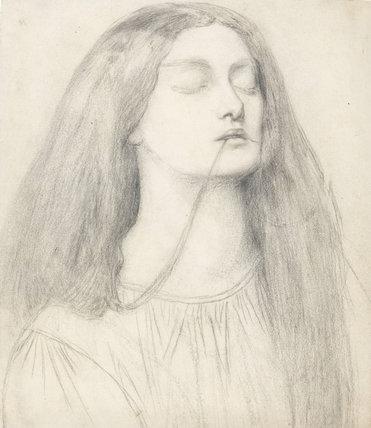 Study for Delia, Dante Gabriel Rossetti