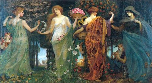 'The Masque of the Four Seasons', Walter Crane