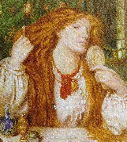 'Woman combing her hair', Dante Gabriel Rossetti. Model: Fanny Cornforth