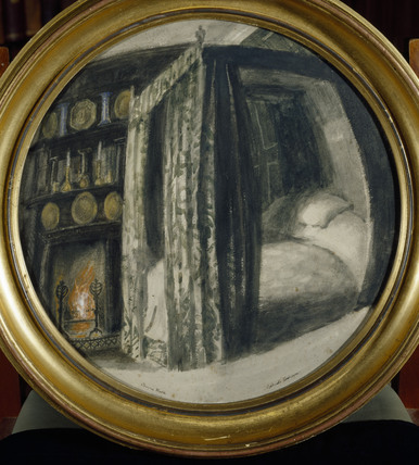 'Rossetti's bedroom at cheyne Walk', Henry Treffry Dunn