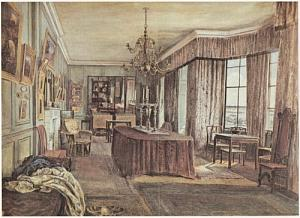 'Rossetti's Drawing Room at Cheyne Walk', Henry Treffry Dunn