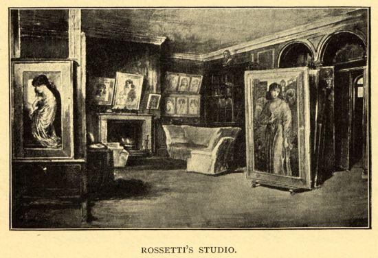 'Rossetti's Studio', Henry Treffry Dunn
