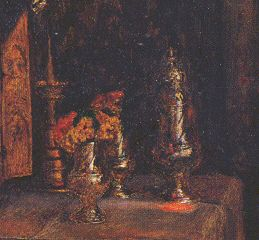 Pillar seen in the background of Millais' 'Mariana'