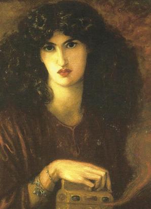 'Pandora' (detail), Dante Gabriel Rossetti