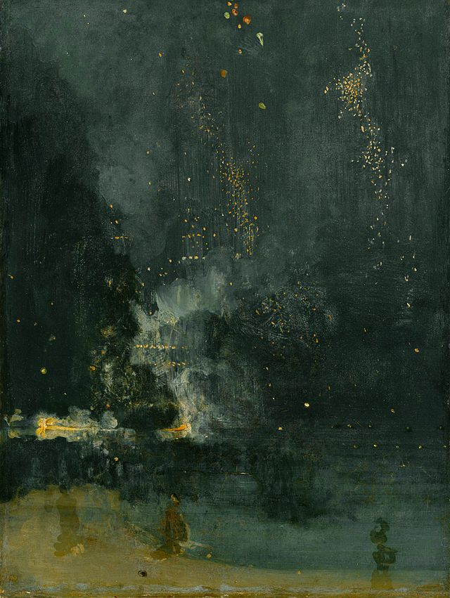 James McNeill Whistler, 'Nocturne in Black and Gold, The Falling Rocket'