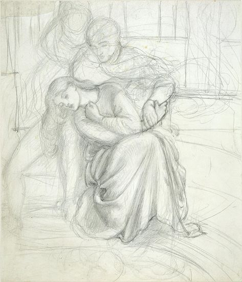 Study for 'Aspecta Medusa', Dante Gabriel Rossetti