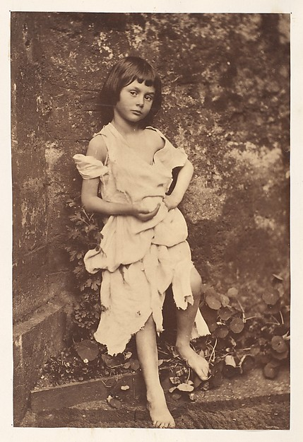"Alice Liddell as ""The Beggar Maid"". Photographed by Lewis Carroll."