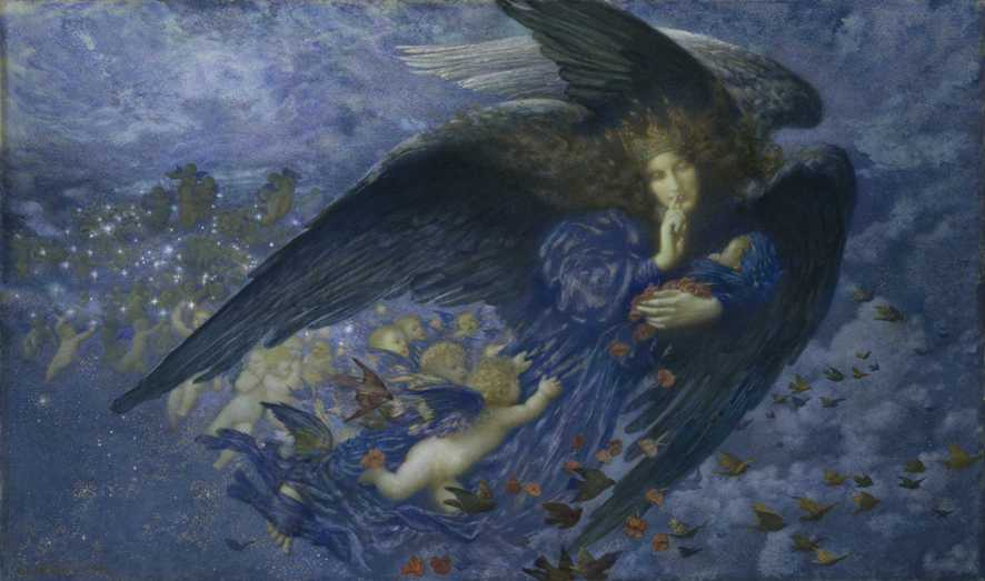 'Night with Her Train of Stars', Edward Robert Hughes