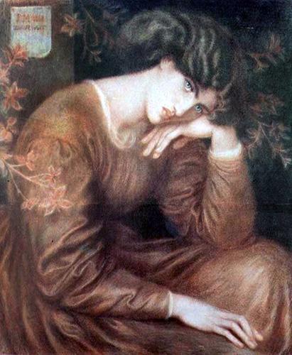 'Reverie', Dante Gabriel Rossetti.  Model: Jane Morris