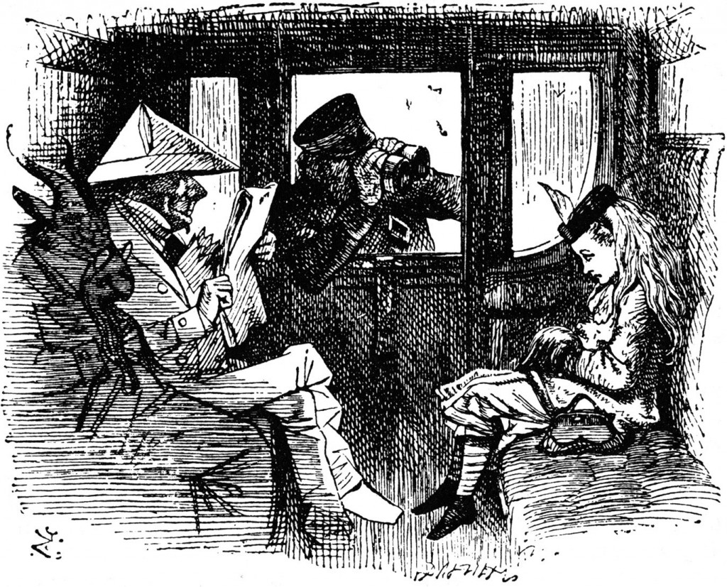 'Alice on the Train', John Tenniel