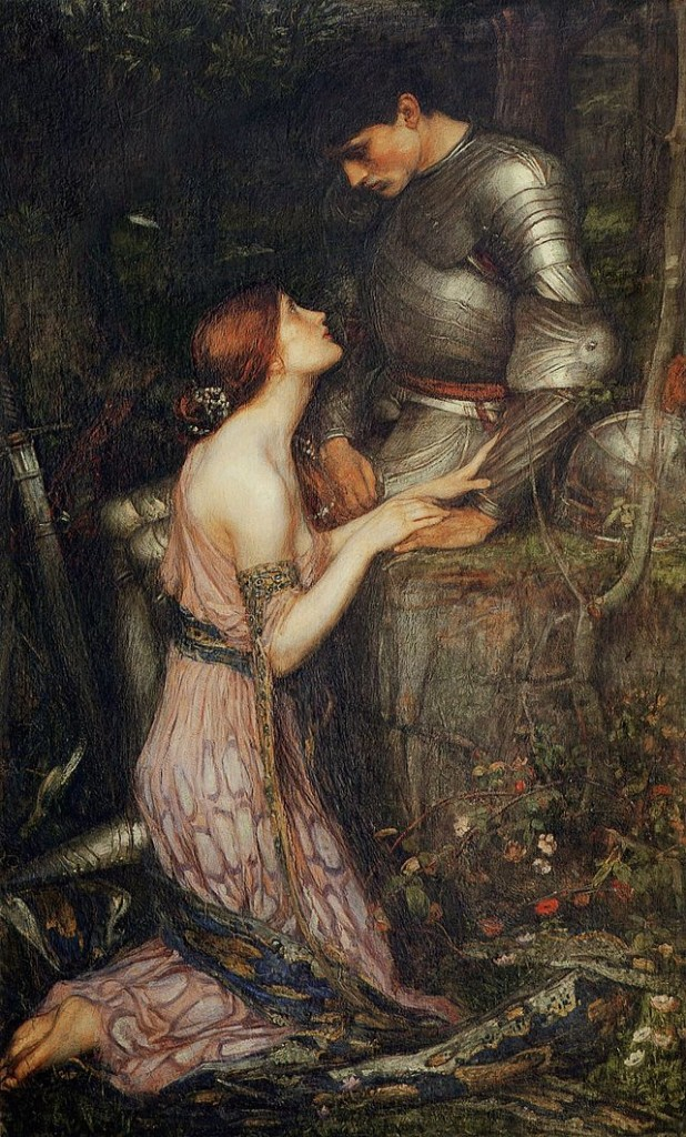 Waterhouse's earlier version of Lamia. Her snakeskin is still draped around her body.