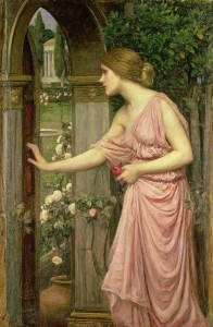 'Psyche Entering Cupid's Garden', John William Waterhouse