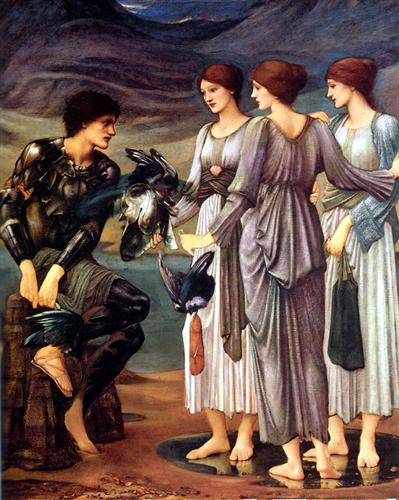 'The Arming of Perseus', Sir Edward Burne-Jones