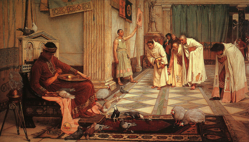 'The Favourites of the Emperor Honorius', John William Waterhouse