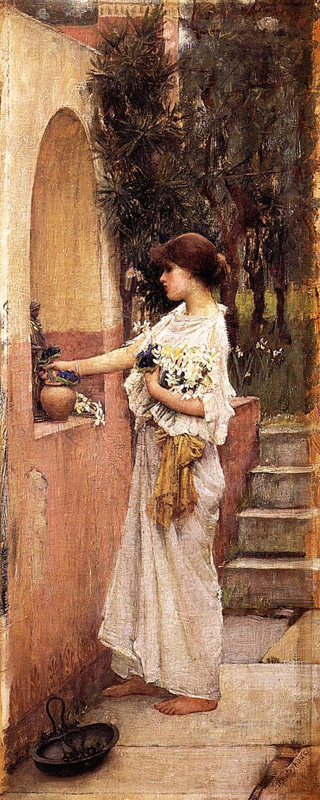 'A Roman Offering', John William Waterhouse
