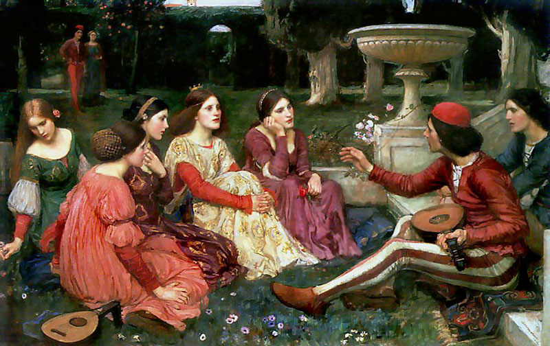 'A Tale from the Decameron', John William Waterhouse