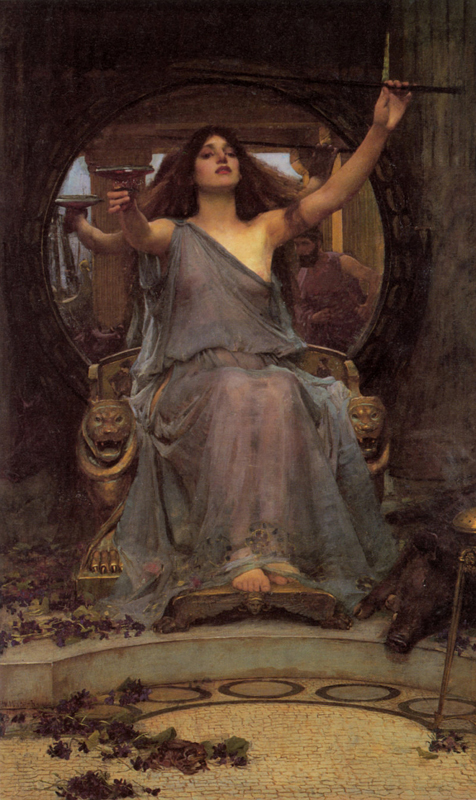 'Circe Offering the Cup to Odysseus'. John William Waterhouse