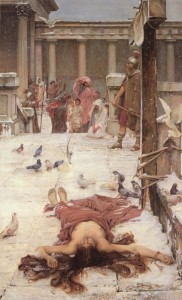 Saint Eulalia, John William Waterhouse Can you spot the signature?