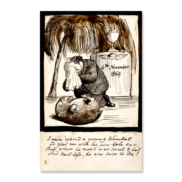 Dante Gabriel Rossetti laments the death of his wombat