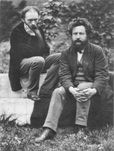 Burne-Jones and William Morris (photograph by Frederick Hollyer)