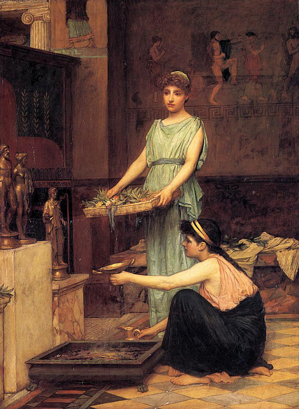 'The Household Gods', John William Waterhouse