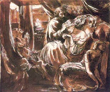 The Death of Lady Macbeth, Dante Gabriel Rossetti